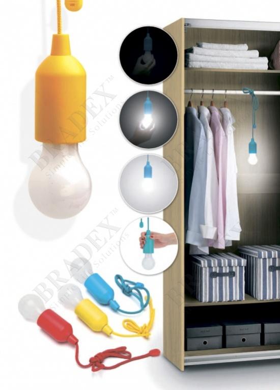 Светильник светодиодный «лампочка» желтая (led pull lamp yelow color)