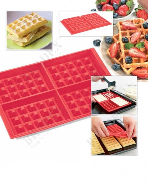 Форма силиконовая «венские вафли» (mould for waffle)