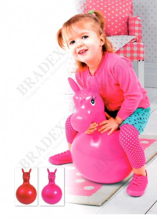 Игрушка детская «лошадка-попрыгун» розовый (hopper toy horse pink)
