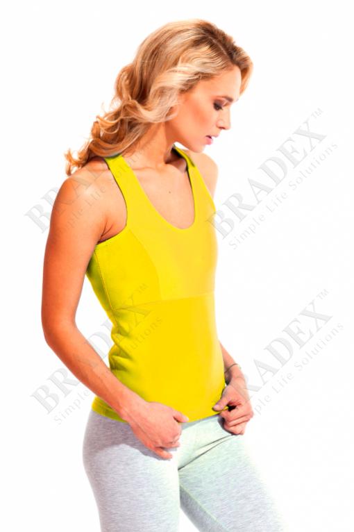 Майка для похудения «body shaper», размер s (жёлтый) (body shaper shirt yellow)