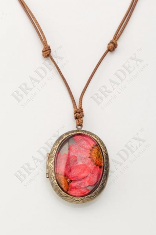 Кулон «медальон» розовый wf-1213-01 купить оптом