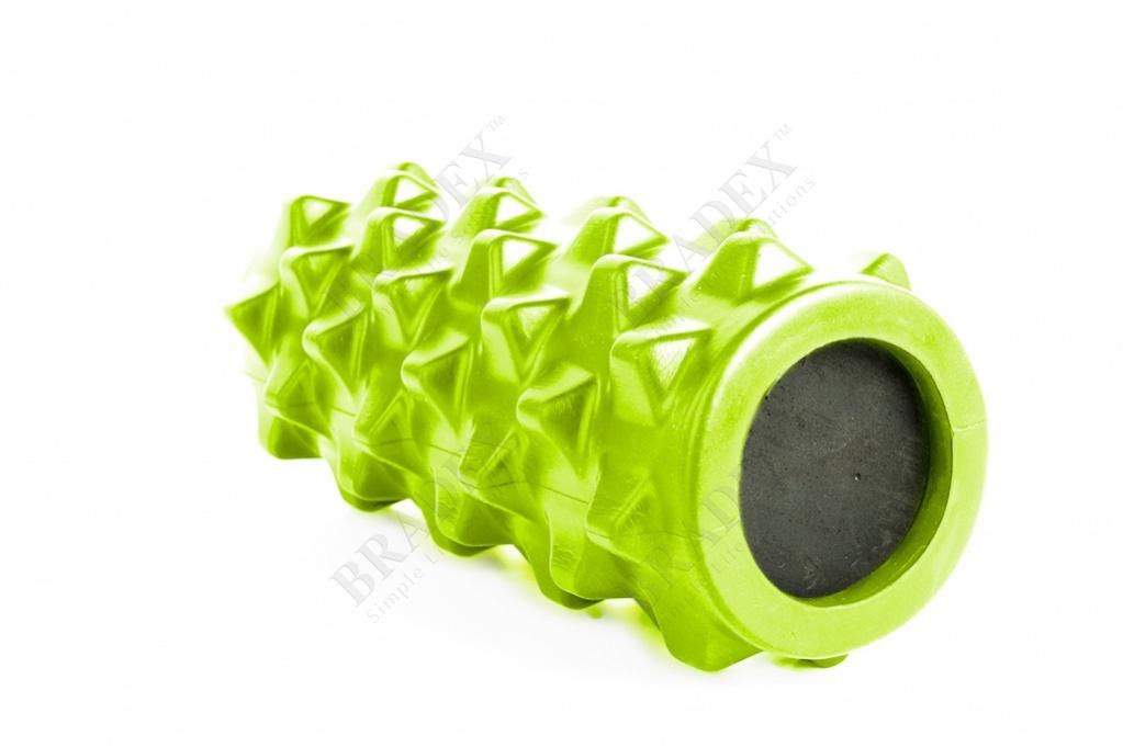 Валик для фитнеса массажный, зеленый (foam roller massage, green)