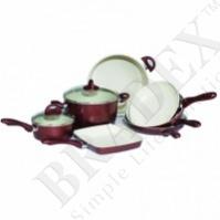 Набор посуды с керамическим покрытием «кросс» из 10 предметов