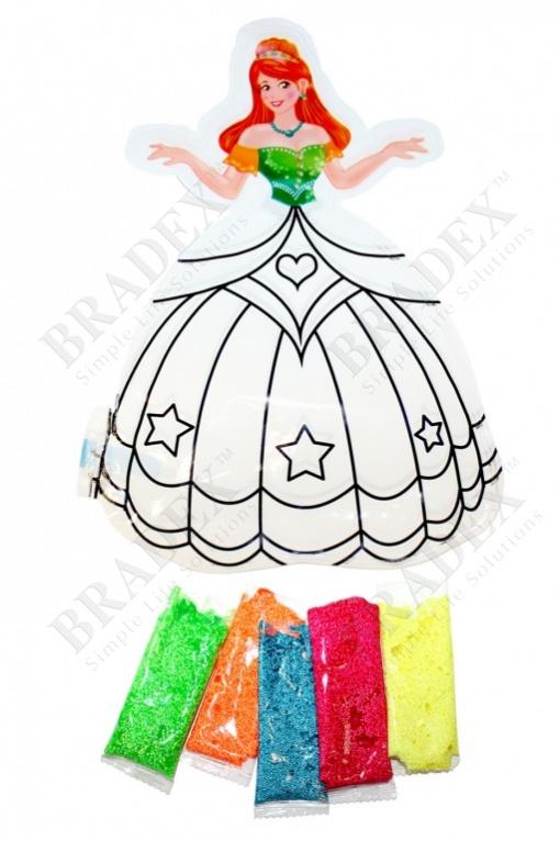 Раскраска надувная «принцесса аня» (inflatable painting baloon princess/diy)