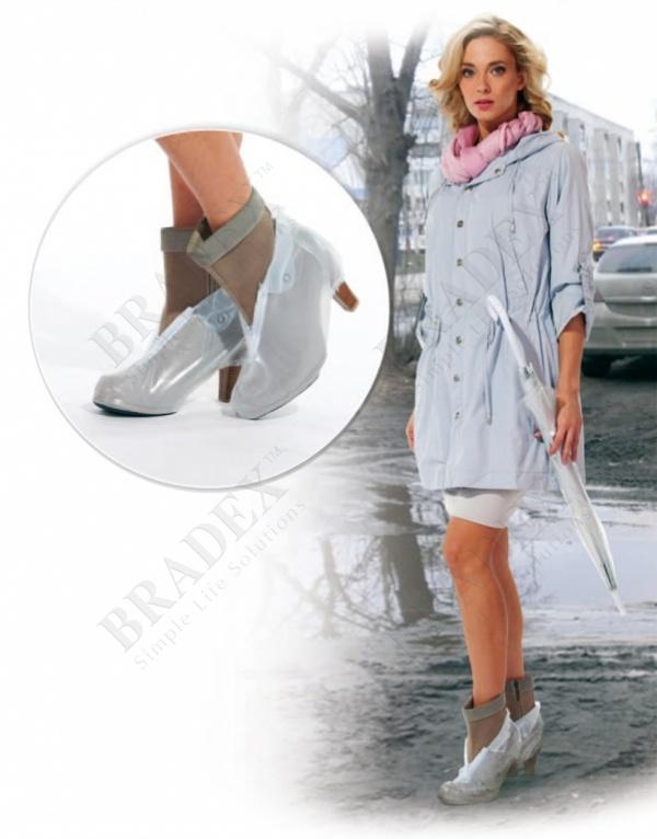 Чехлы грязезащитные для женской обуви на каблуках, размер l (pvc rain boots, size l)