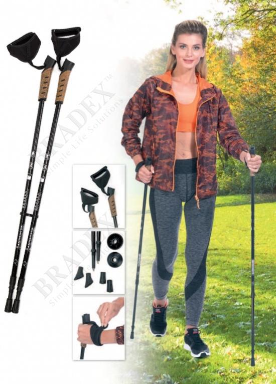 Палки карбоновые телескопические для скандинавской ходьбы «нордик стайл про» (2 section walking stick*2pcs carbone 50%)