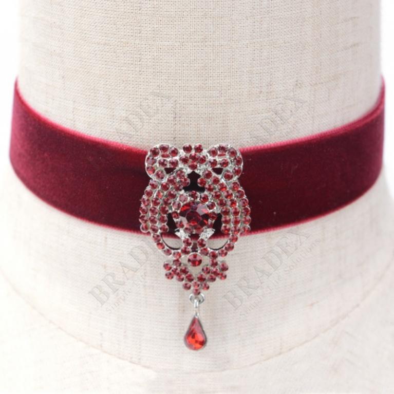 Чокер «шарлотта» бордовый (n001648-1)