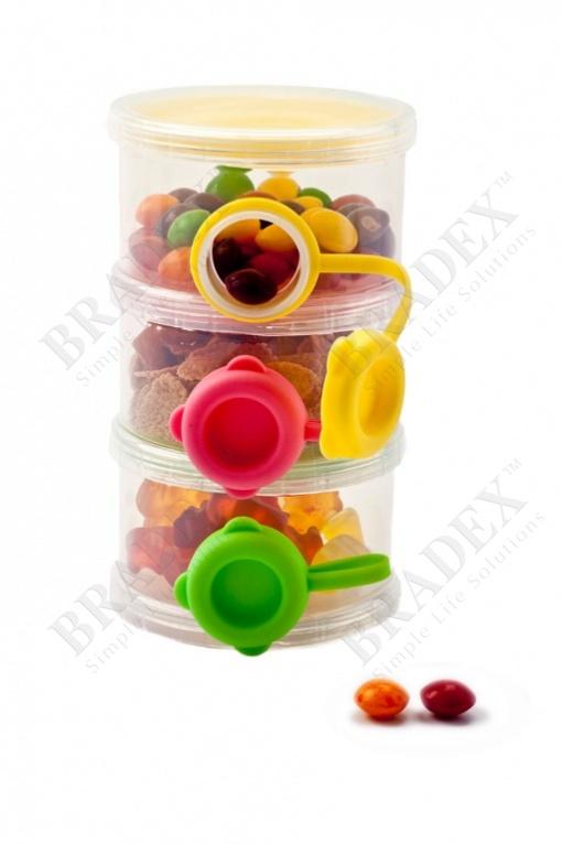 Трехслойный контейнер с боковыми отверстиями для пищевых сыпучих продуктов (baby feeding plastic pp food storage container milk powder case milk powder dispenser)