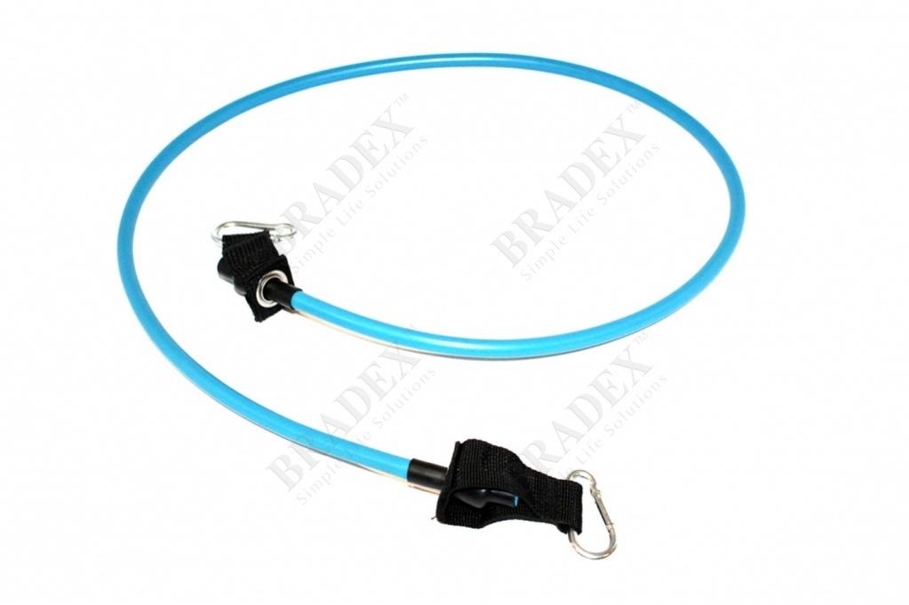 Эспандер трубчатый с карабинами, нагрузка до 11 кг, синий expander, blue, 25 lb купить оптом