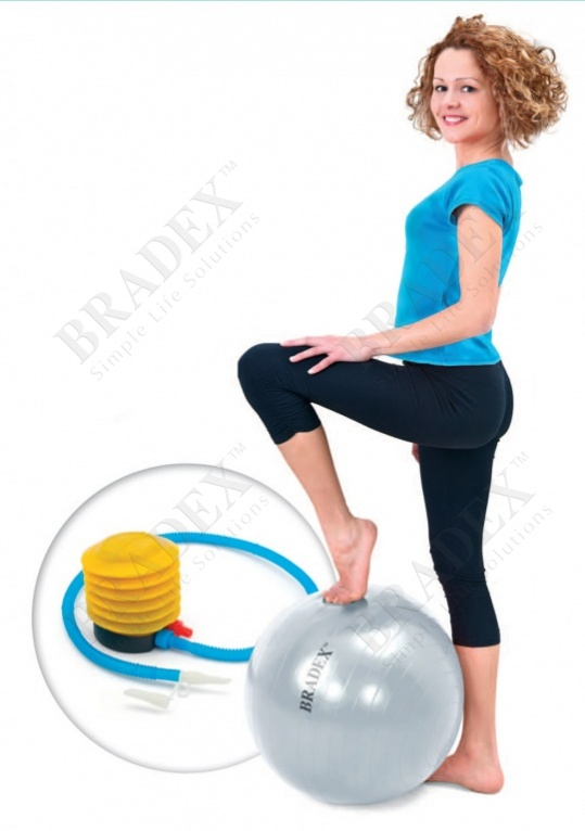 Мяч для фитнеса «фитбол-55» с насосом (fitness ball 55 cm with pump)