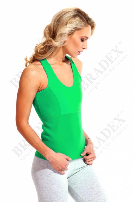 Майка для похудения «body shaper», размер l (зелёный) (body shaper shirt green)