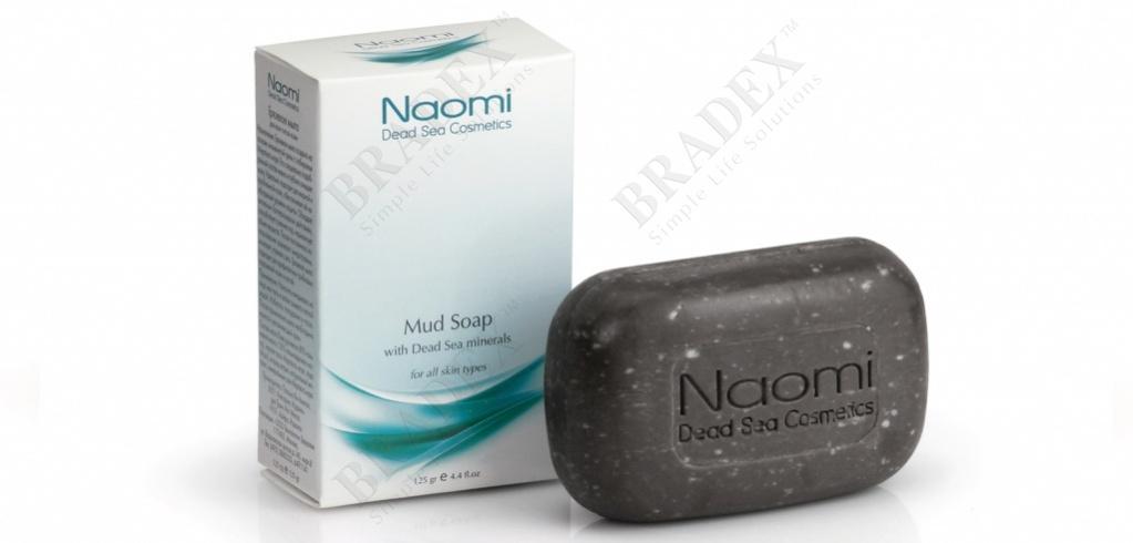Мыло грязевое с минералами мертвого моря «naomi» 125 г (mud soap with dead sea minerals)