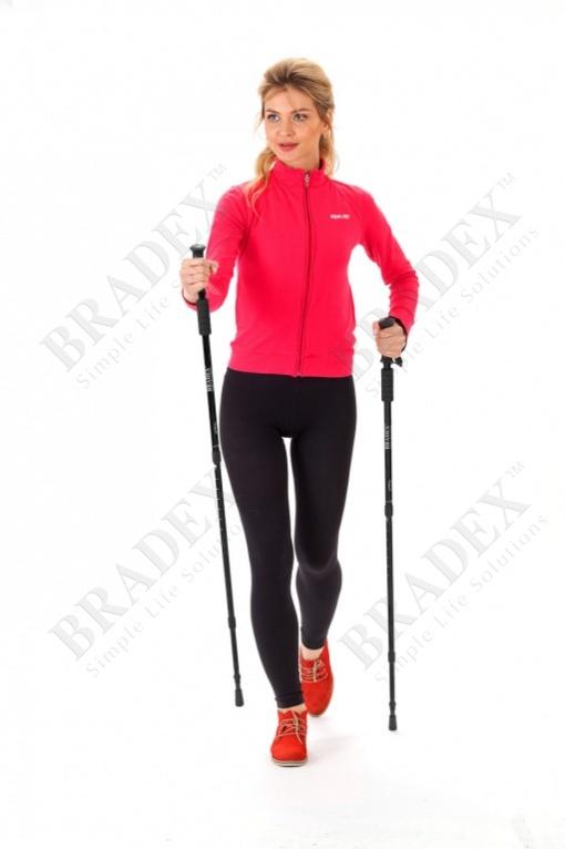 Палки телескопические для скандинавской ходьбы «нордик стайл» (walking sticks)