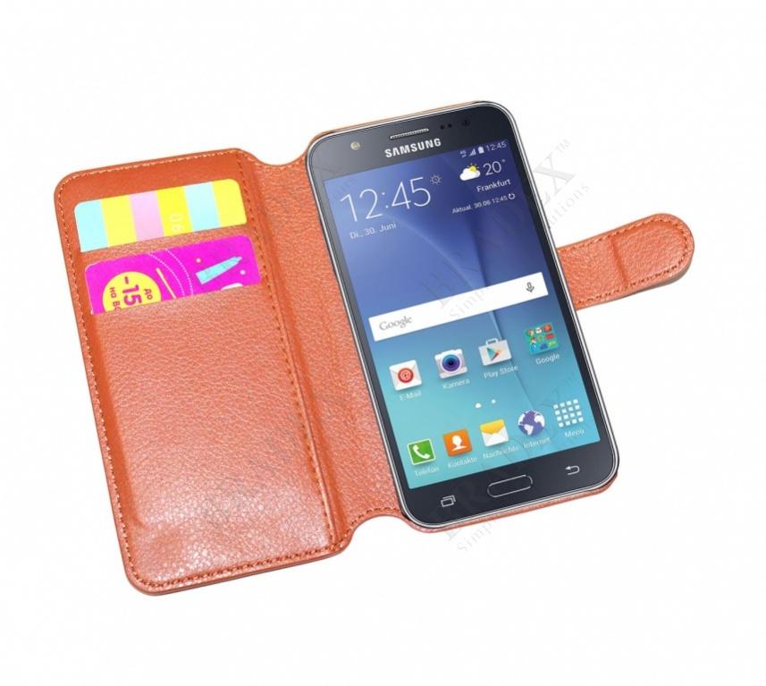 Чехол-книжка универсальный для телефона, коричневый 14*6,7 см (flip-open cover phone case, brown, 14*6,7 cm)