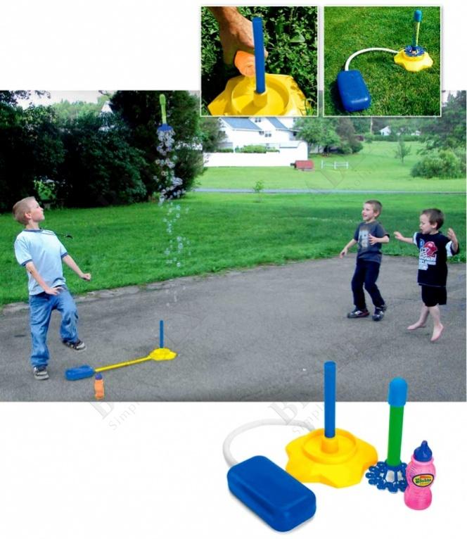 Ракета с мыльными пузырями и помпой «баббл» (bubble rocket)