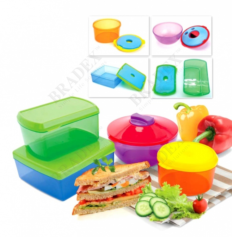Набор контейнеров с охлаждающим элементом (4 шт.) (healthy lunch kit (4 pcs))