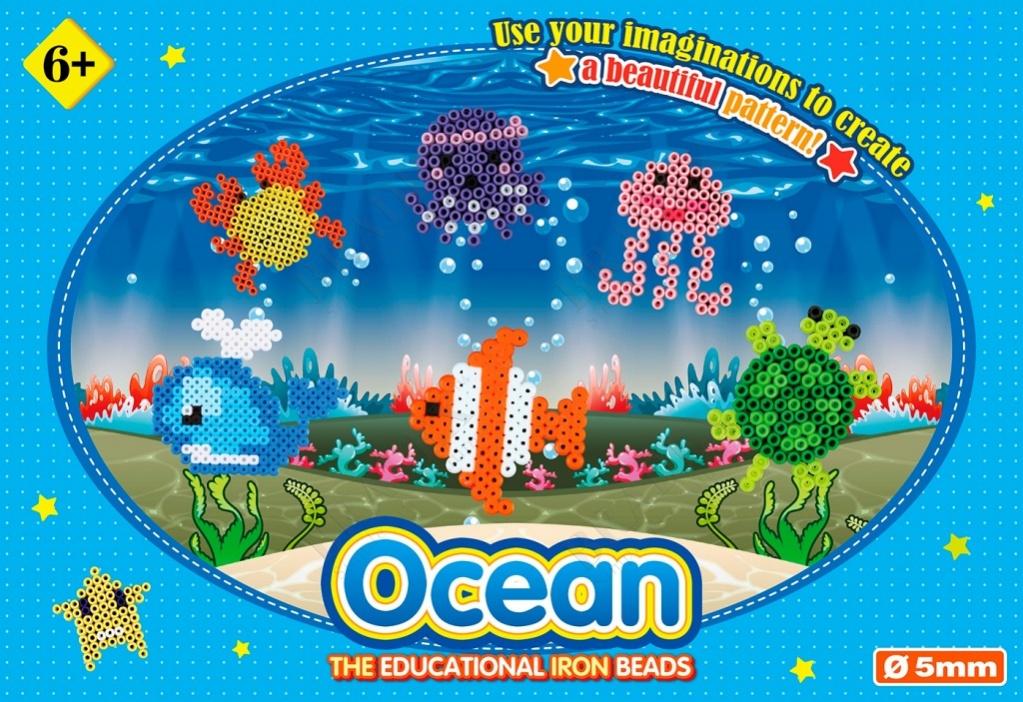 Термомозаика «подводный мир» (ironing beads - sea)