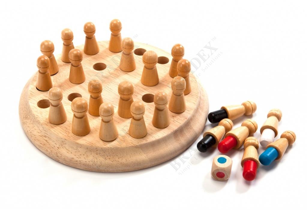 Шахматы детские для тренировки памяти «мнемоники» (colorful brain teaser baby wooden memory chess)