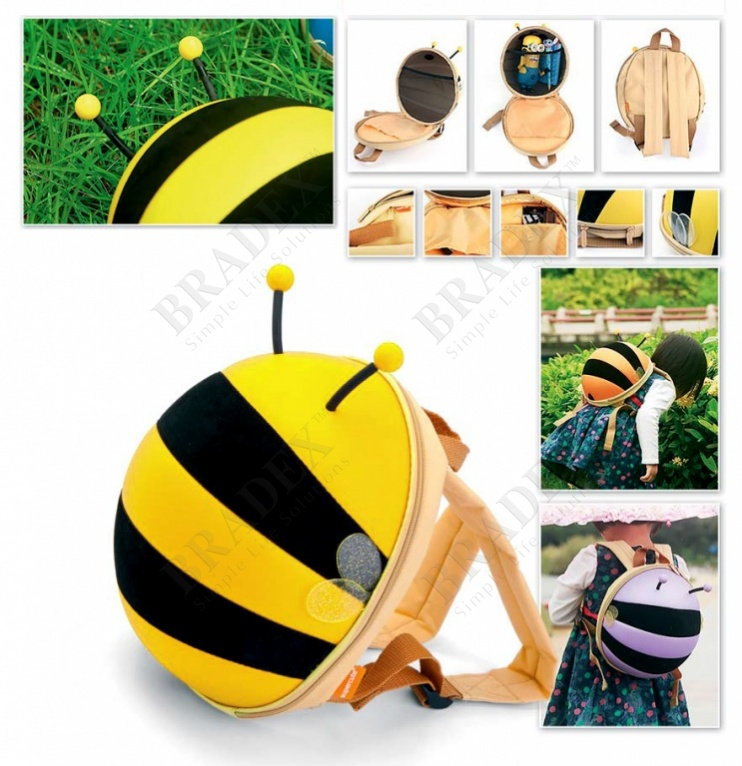Ранец детский «пчелка» желтый (bumble bee backpack yellow)