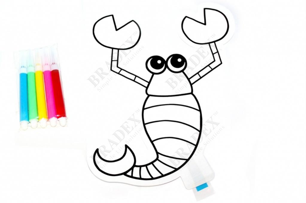 Раскраска надувная «скорпион» (inflatable painting baloon/diy)