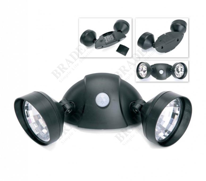 Портативный светильник с двумя спотами и датчиком движения (dual motion-activated security lights)