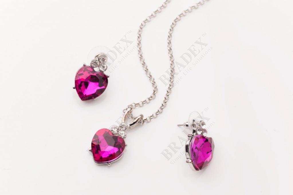 Комплект «стефания» earrings+pendant with chain 45+5 cm купить оптом