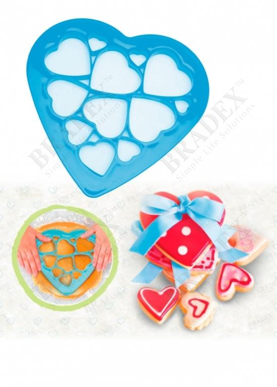 Форма для вырезания печенья «валентинки» (diy cookie mould hearts)