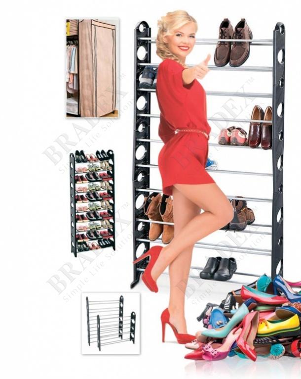 Органайзер для обуви модульный на 30 пар (stackable shoe rack)