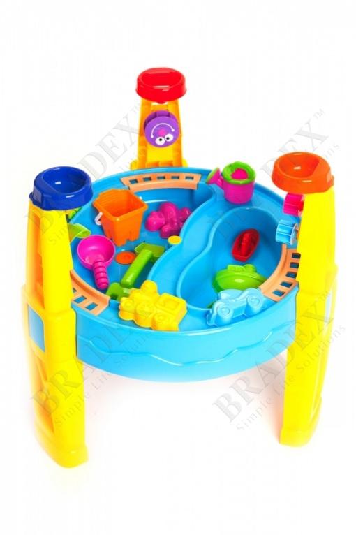 Стол игровой для песка и воды с набором формочек «счастливый карапуз» (sand & water table)