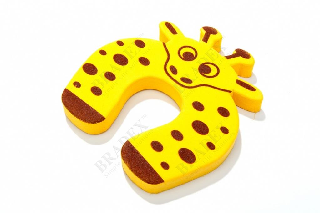 Стоппер для дверей детский «жираф» (baby animal cartoon door stopper)