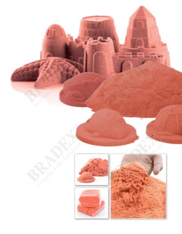 Песок для игры «чудо-песок» 1 кг оранжевый (cildren christmas toys play sand for kids christmas gift)