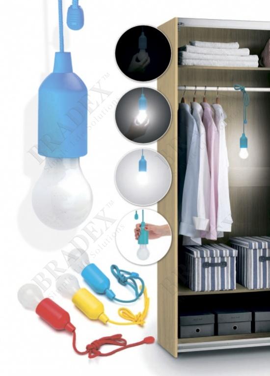 Светильник светодиодный «лампочка» голубая (led pull lamp blue color)
