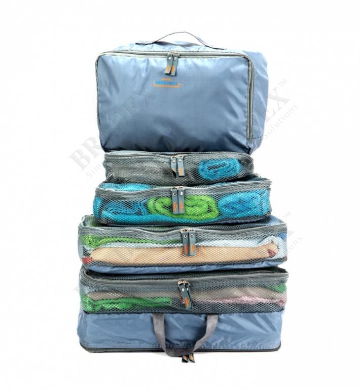Набор чехлов для путешествий «бон вояж» (5pcs luggage organizer set)