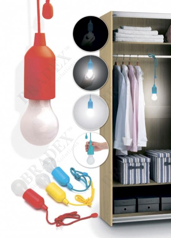 Светильник светодиодный «лампочка» красная (led pull lamp red color)