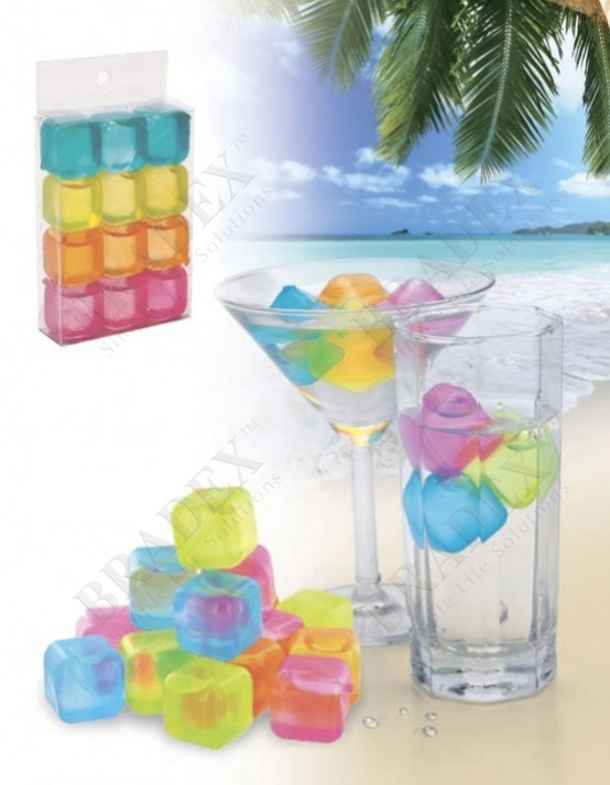 Лед многоразовый «яркие кубики» (square reusable ice cube)