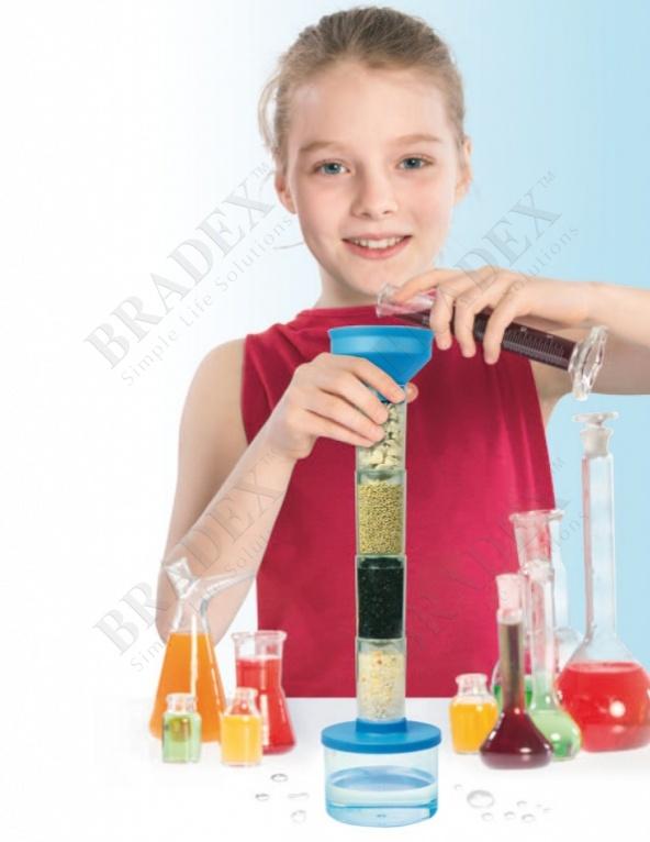 Набор для проведения опытов по очистке воды «юный учёный» (water science kit)