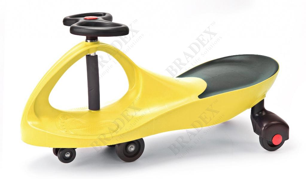 Машинка детская желтая «бибикар» (bibicar, yellow colour)