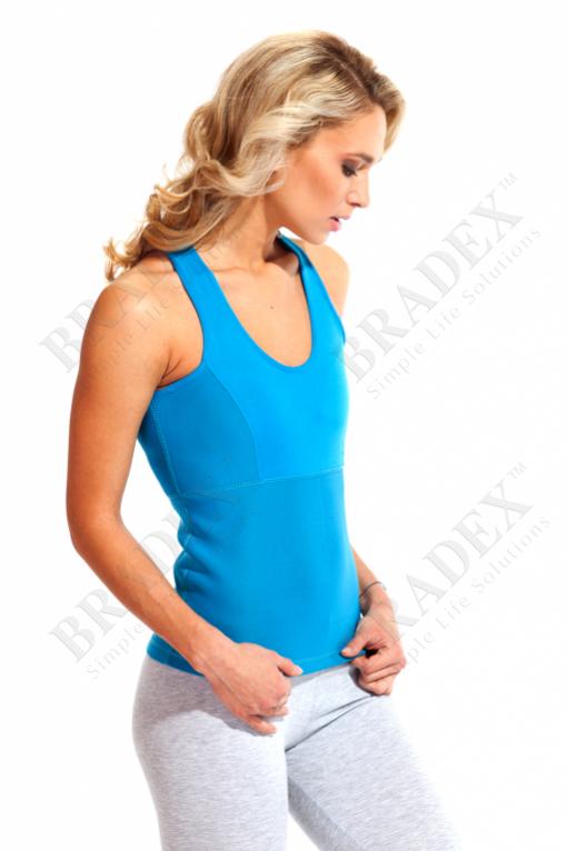 Майка для похудения «body shaper», размер l (голубой) (body shaper shirt blue)