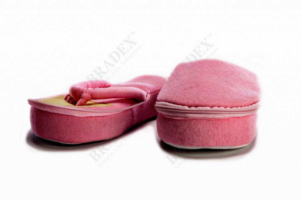 Тапочки педикюрные с памятью, размер: 40-44 «педикюр» (memory pedicure foam slippers, large size)