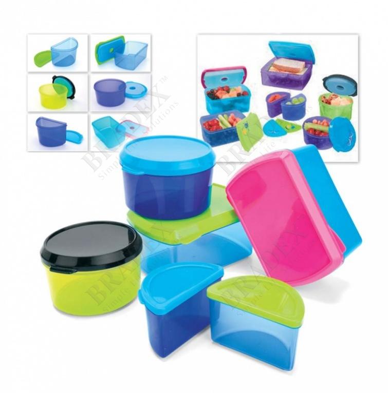 Набор контейнеров с охлаждающим элементом (6 шт.) (healthy lunch kit (6 pcs))