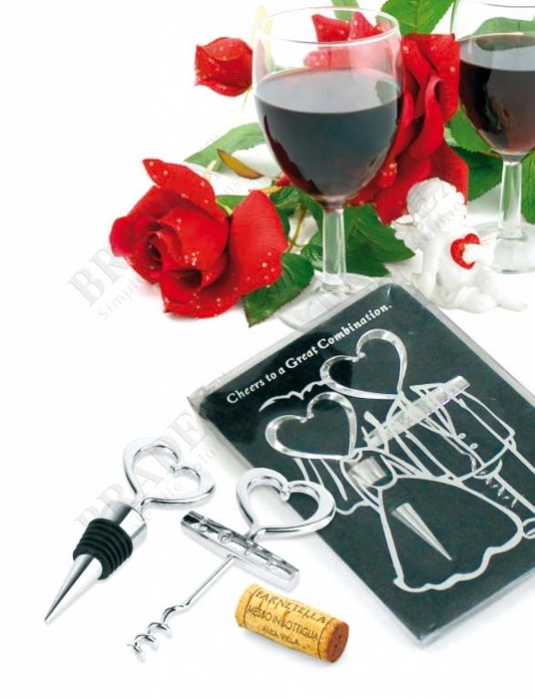Набор подарочный: пробка и штопор «жених и невеста» (bottle cork and opener)