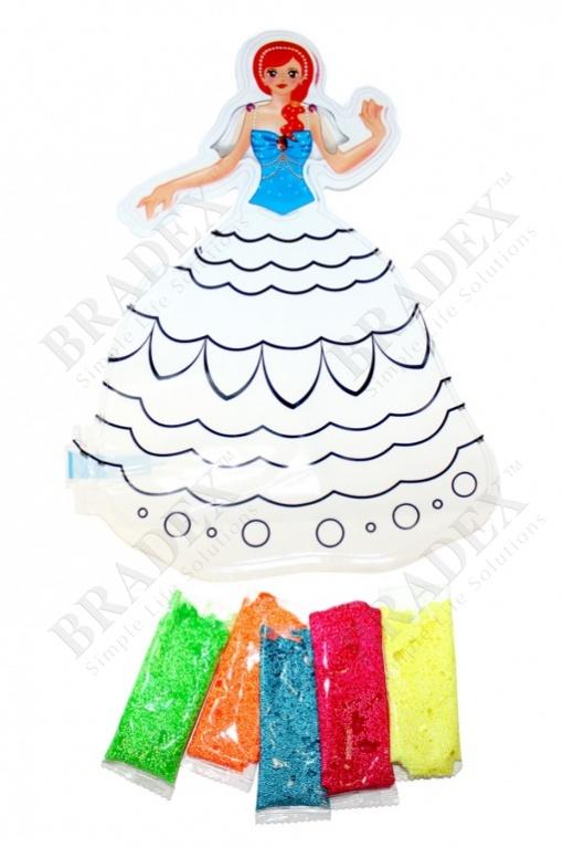 Раскраска надувная «принцесса лиза» (inflatable painting baloon princess/diy)