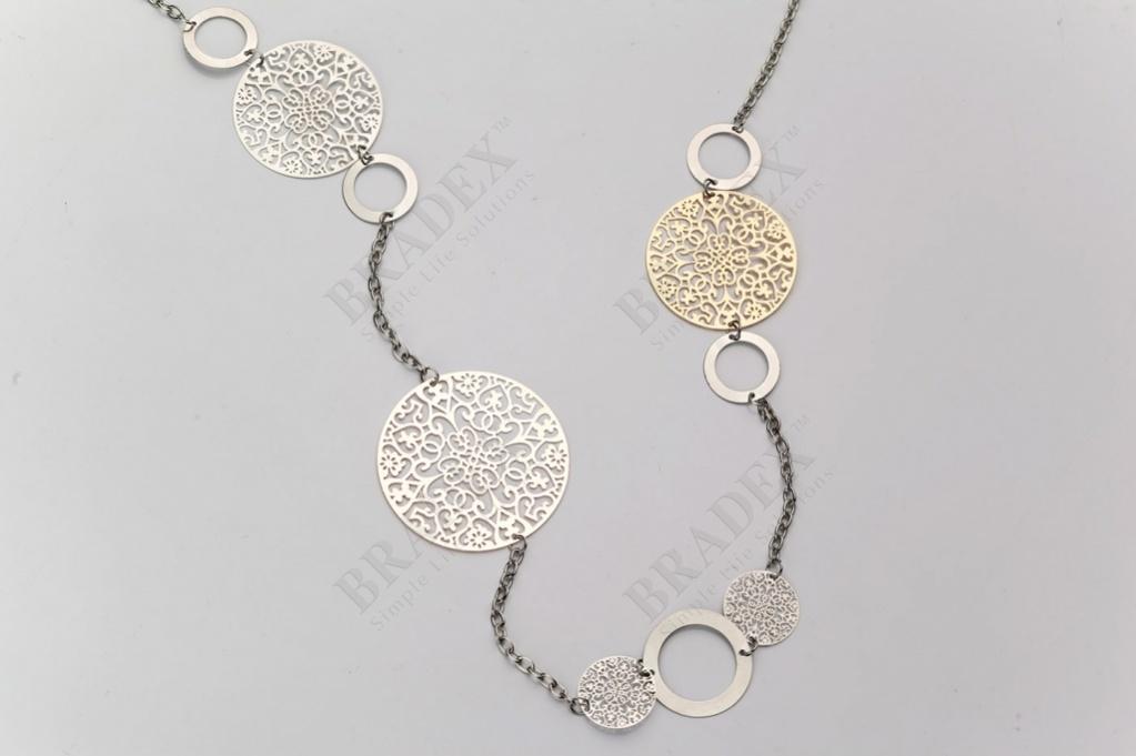 Колье «византия» цвет серебряный (necklace ne150023)