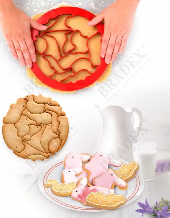 Форма для вырезания печенья «зоопарк» (moulds for 15 cookies animals)