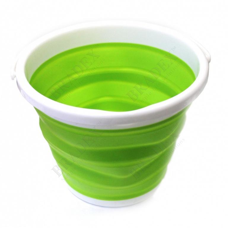 Ведро складное силиконовое 10л (foldable bucket 10l)