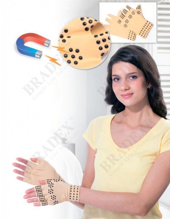 Перчатки утягивающие с магнитами 1 пара (fingerless gloves with magnets)