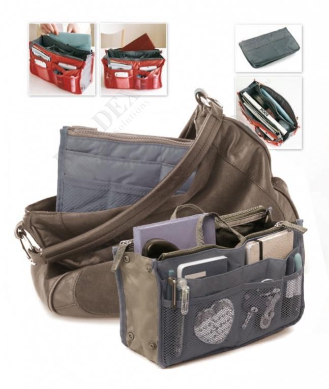 Органайзер для сумки «сумка в сумке» цвет серый (organizer for a bag 'dual bag in bag' (gray))