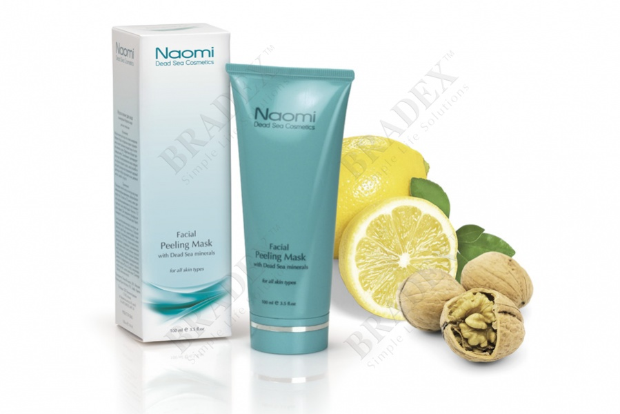 Маска-пилинг для лица с минералами мертвого моря «naomi» 100 мл (facial peeling mask with dead sea minerals)