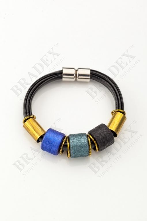 Браслет «этника» синий wooden bracelet - blue купить оптом