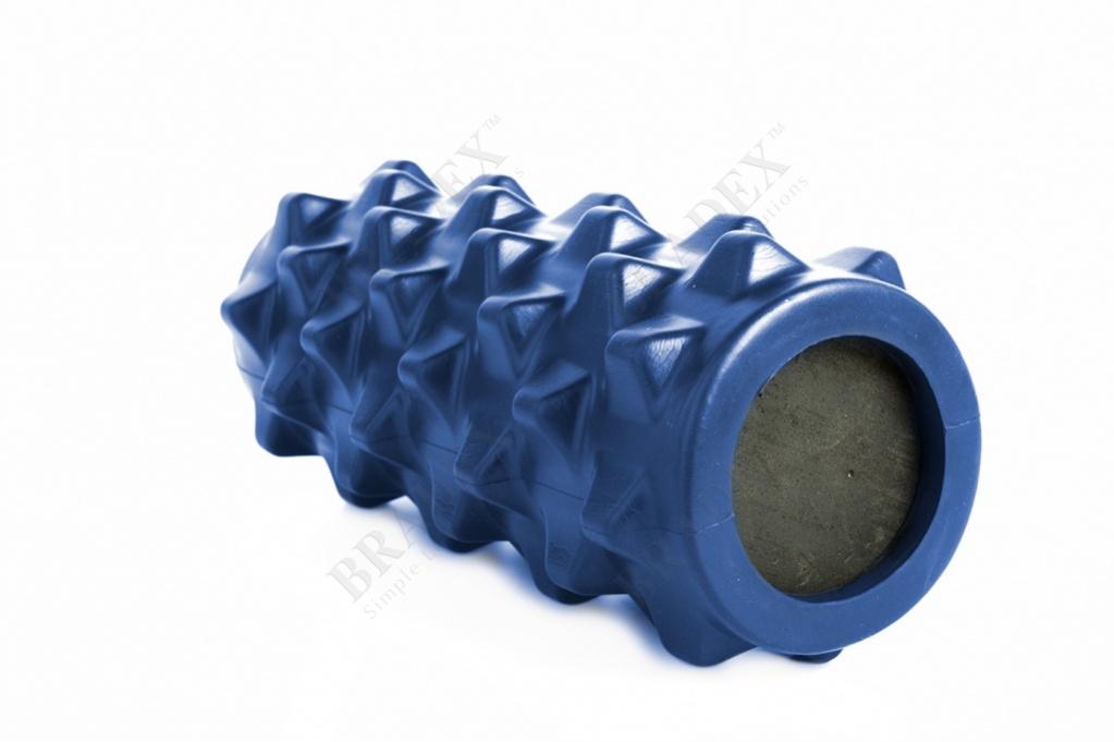 Валик для фитнеса массажный, синий (foam roller massage, dark blue)